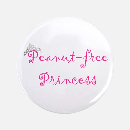 "Cute Peanut allergy 3.5"" Button"