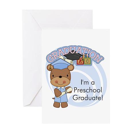 Boy Bear Preschool Grad Greeting Card