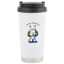 Social Butterfly Westie Travel Mug
