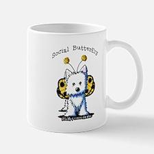 Social Butterfly Westie Mug