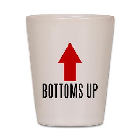 Bottoms Up (shot glass)