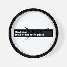 NYC Subway closing doors Wall Clock