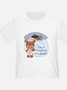 Girl Bear Preschool Grad T
