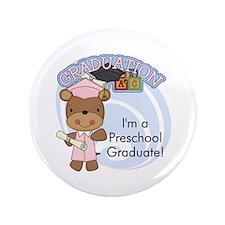 """Girl Bear Preschool Grad 3.5"""" Button"""
