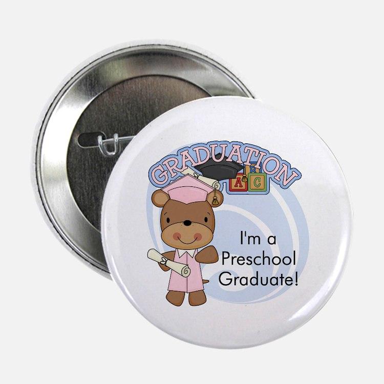 """Girl Bear Preschool Grad 2.25"""" Button (10 pack)"""