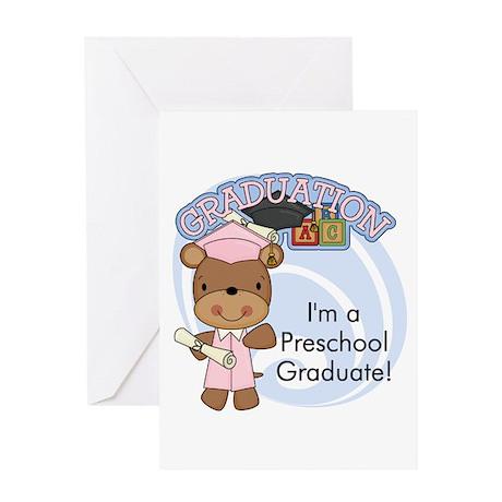 Girl Bear Preschool Grad Greeting Card