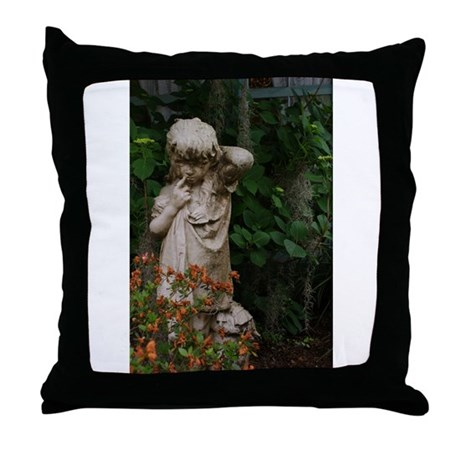 The Haunted Gardens Throw Pillow