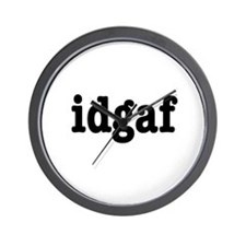 idgaf I Don't Give a F*ck Wall Clock
