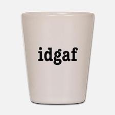 idgaf I Don't Give a F*ck Shot Glass