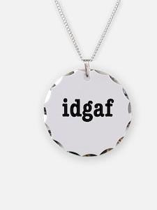 idgaf I Don't Give a F*ck Necklace