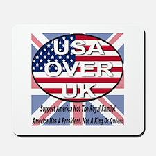 USA OVER UK Mousepad
