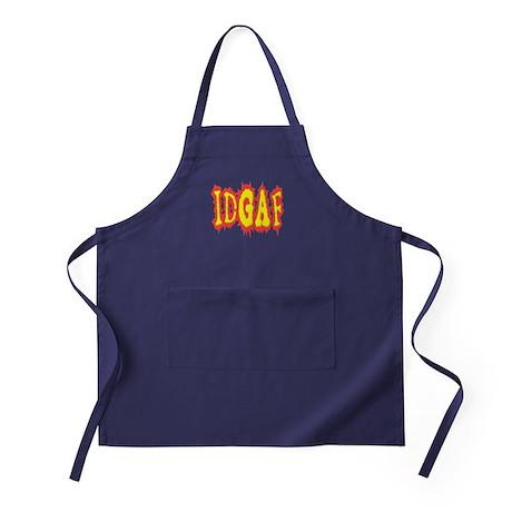 IDGAF idgaf I Don't Give a F*ck Apron (dark)