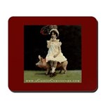 Girl on Taxidermy Pig Mousepad