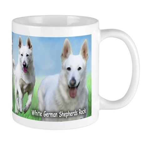 White German Shepherds Rock Mug
