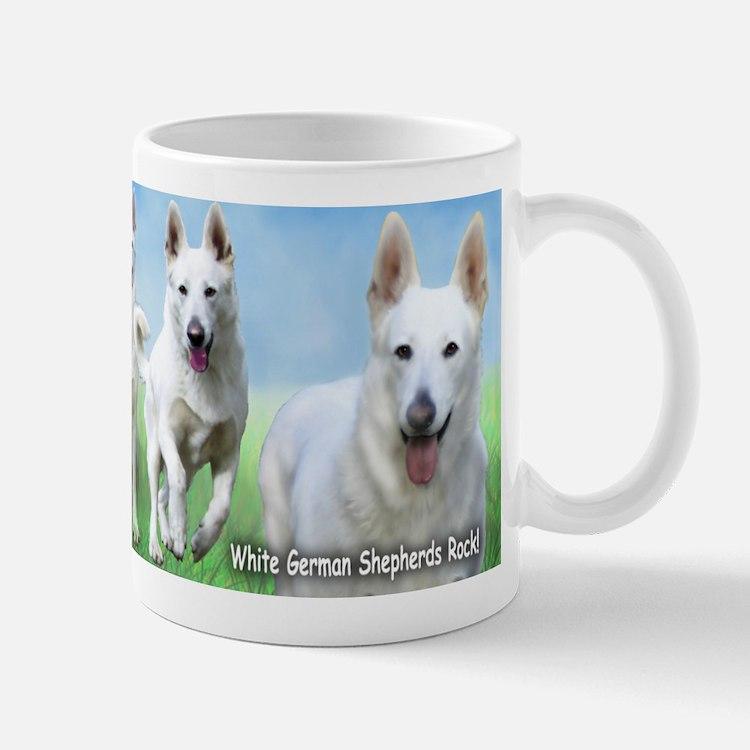 White German Shepherds Rock Mug