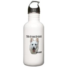 White German Shepherds Rock Water Bottle