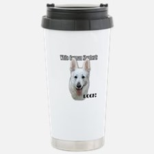 White German Shepherds Rock Stainless Steel Travel