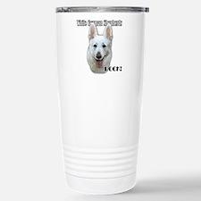 White German Shepherds Rock Travel Mug