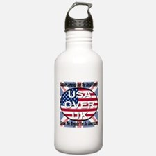 USA OVER UK Water Bottle