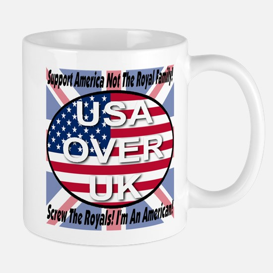 USA OVER UK Mug