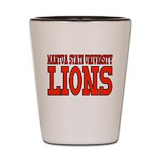 Mantua State University Lions Shot Glass