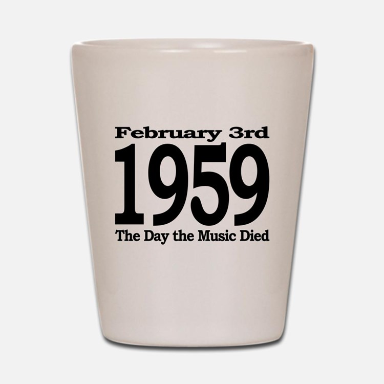 1959 - The Day the Music Died Shot Glass