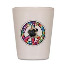 Cute Pug or pugs Shot Glass
