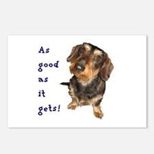 Dachshund As good as it gets Postcards (Package of