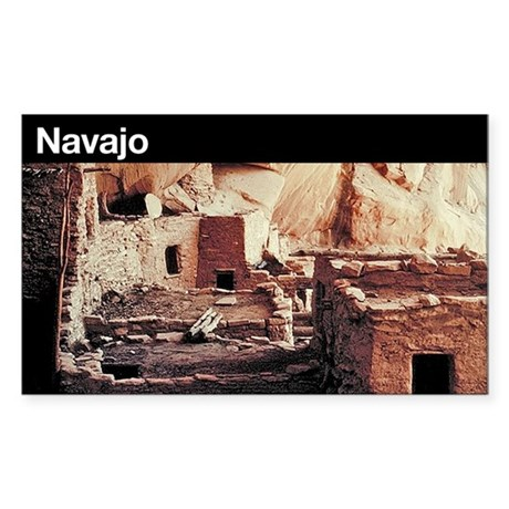 Navajo National Monument Rectangle Sticker