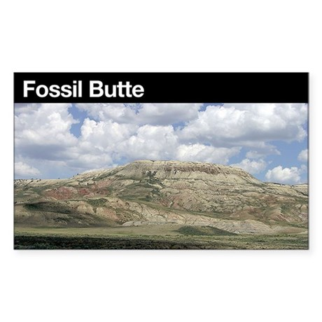Fossil Butte NM Rectangle Sticker