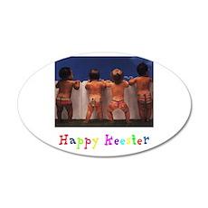 Happy Keester 22x14 Oval Wall Peel