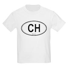 Switzerland (CH) euro Kids T-Shirt