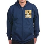 English Trumpeter Yellow Sadd Zip Hoodie (dark)