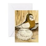English Trumpeter Yellow Sadd Greeting Cards (Pk o