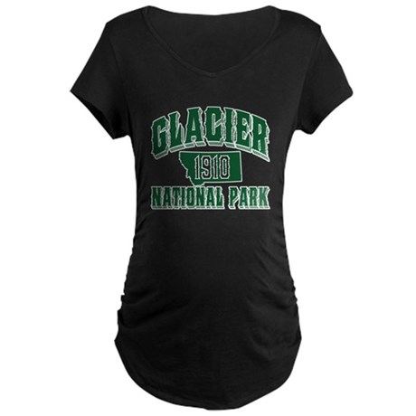 Glacier Old Style Green Maternity Dark T-Shirt