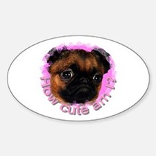 Brussels Griffon (Short Hair) Oval Decal