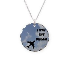 Livin' The Dream Necklace Circle Charm