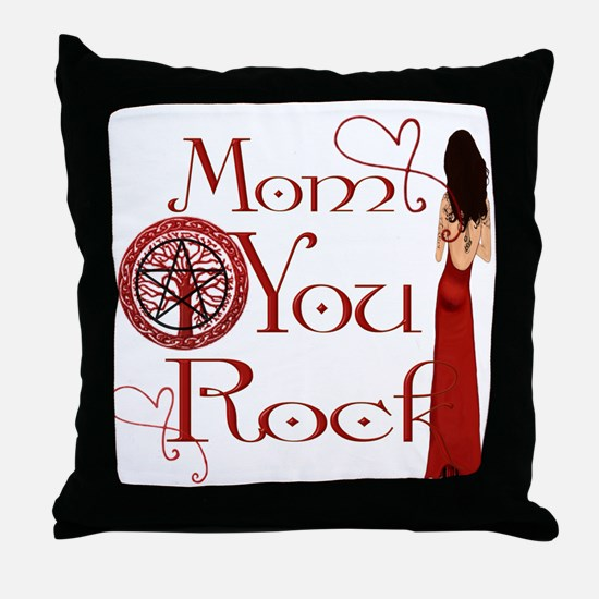 Wicca Mothers Day Throw Pillow