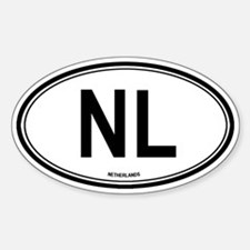 Netherlands (NL) euro Oval Decal