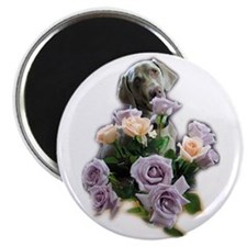 Blue-quet of Roses Magnet