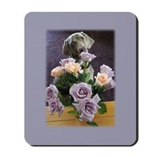 Blue-quet of Roses Mousepad