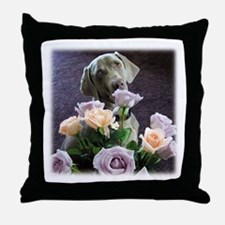 Blue-quet of Roses Throw Pillow