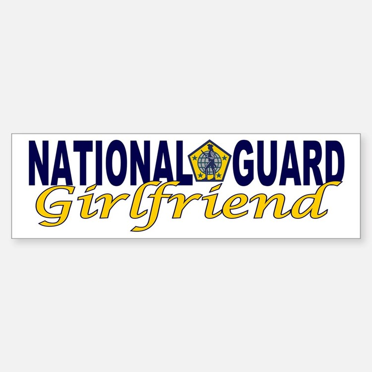 National Guard Girlfriend Bumper Bumper Bumper Sticker