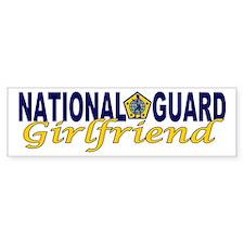 National Guard Girlfriend Bumper Car Sticker