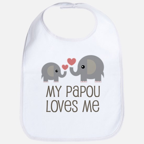 My Papou Loves Me Baby Bib