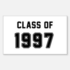 Class of 1997 Black Decal