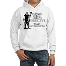Lacrosse Defense Wins Champ 2 Hoodie