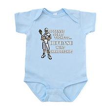 Lacrosse Defense Wins Champ 1 Infant Bodysuit
