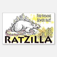 Ratzilla Fire-Spewing Rat Rectangle Decal