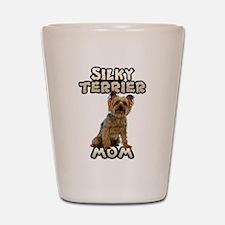 Silky Terrier Mom Shot Glass
